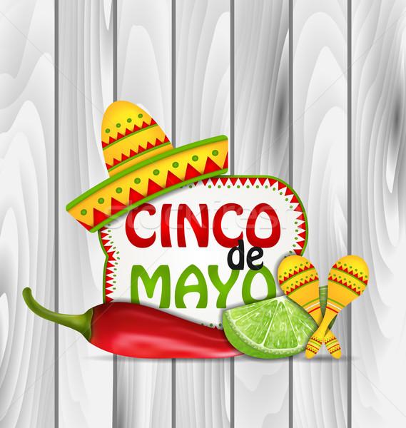Holiday Greeting Background for Cinco De Mayo  Stock photo © smeagorl