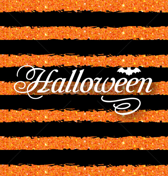 Happy Halloween Poster. Light Holiday Background Stock photo © smeagorl