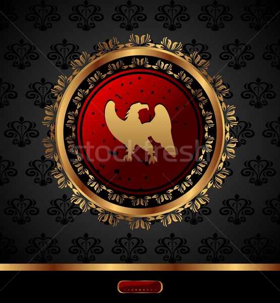 golden medallion with heraldic eagle Stock photo © smeagorl
