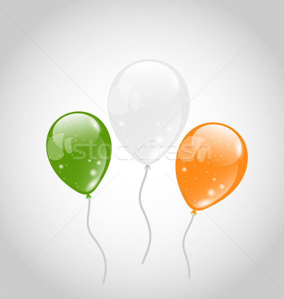 Irlandês colorido balões dia de São Patricio ilustração festa Foto stock © smeagorl