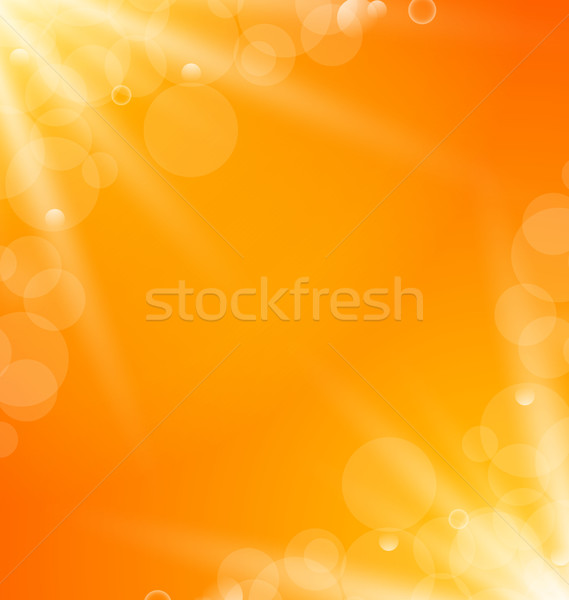 Abstract orange bright background with sun light rays Stock photo © smeagorl
