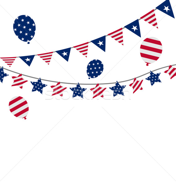 Bunting pennants for Independence Day USA, President Day, Washin Stock photo © smeagorl