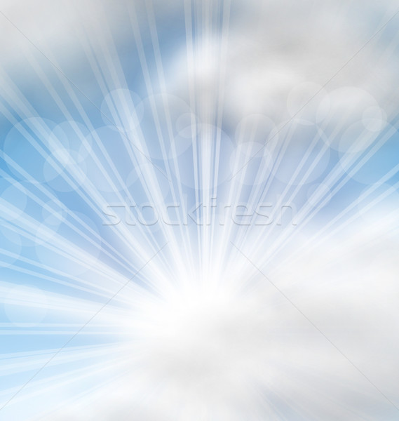 Cloudscape Background with Sun Rays Stock photo © smeagorl