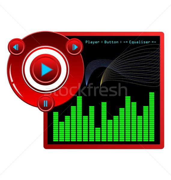 Illustration web template music player skin Stock photo © smeagorl