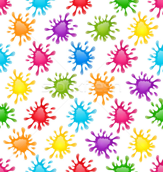 Seamless Fun Pattern with Multicolored Blots Stock photo © smeagorl