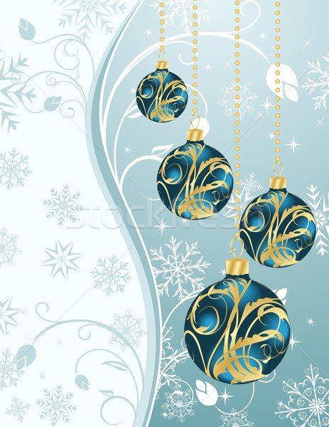 Christmas background with set balls Stock photo © smeagorl