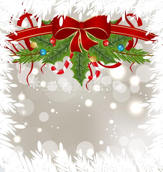 Christmas ijzig kaart vakantie decoratie illustratie Stockfoto © smeagorl