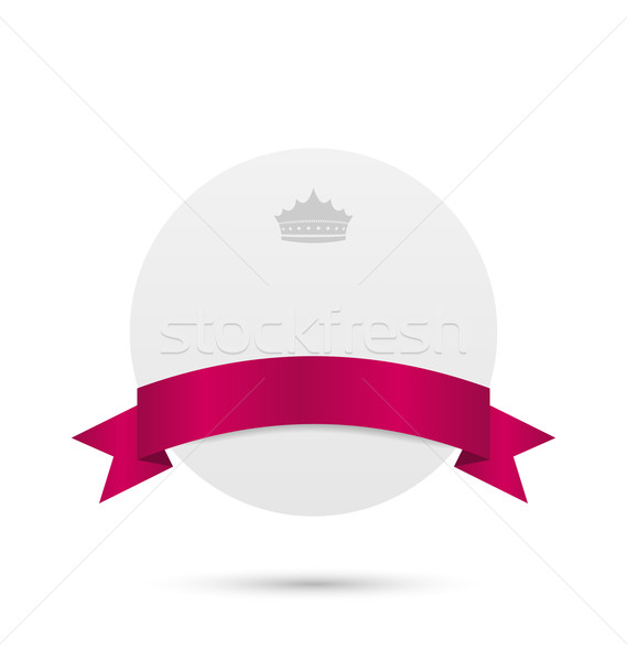 Greeting card with pink ribbon and crown Stock photo © smeagorl
