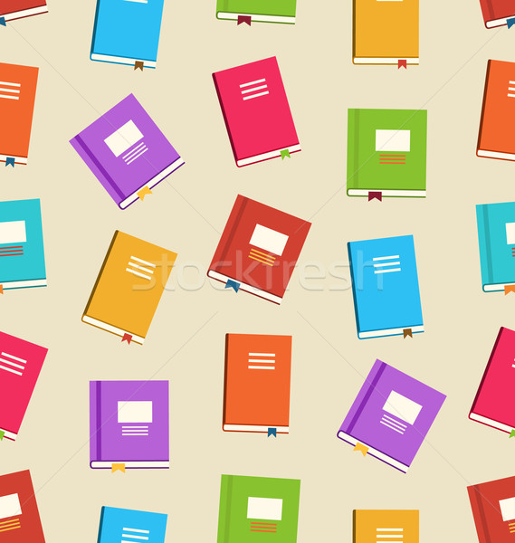 Seamless Pattern of Books for Education Stock photo © smeagorl