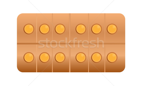 tablets or drugs are packed in blister Stock photo © smeagorl