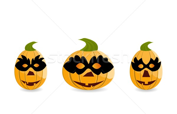 Gang of pumpkins dressed in masks Stock photo © smeagorl