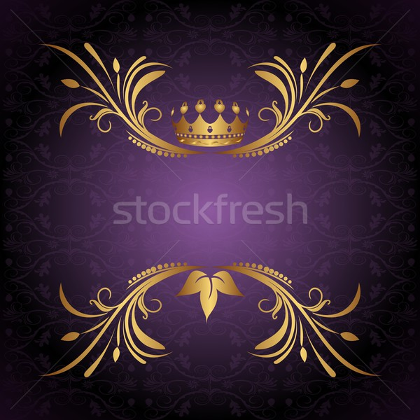 vintage frame with crown Stock photo © smeagorl