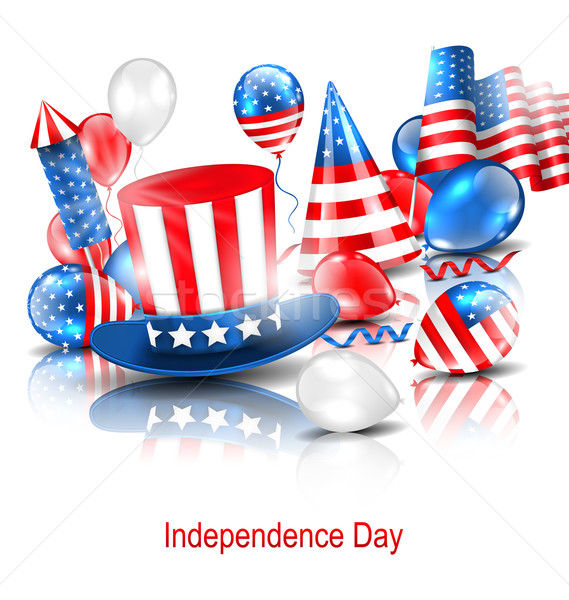 Party Background in Traditional American Colors Stock photo © smeagorl