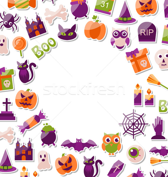 Halloween Clean Card with Place for Your Text Stock photo © smeagorl