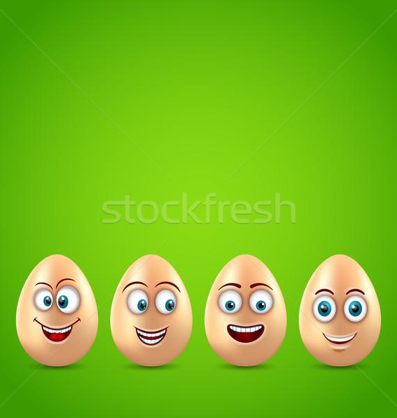 Humor húsvét kártya vicces tojások illusztráció Stock fotó © smeagorl