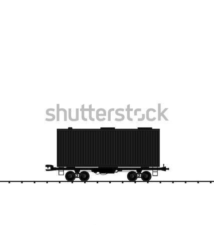 иллюстрация груза уголь железная дорога поезд Сток-фото © smeagorl