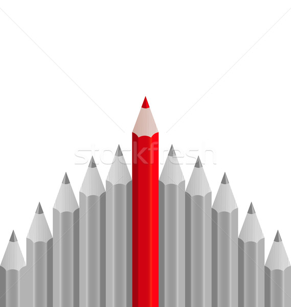 Group of pencils with one highlighted as business concept for le Stock photo © smeagorl