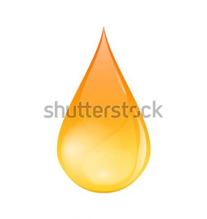 Olie drop geïsoleerd witte illustratie licht Stockfoto © smeagorl