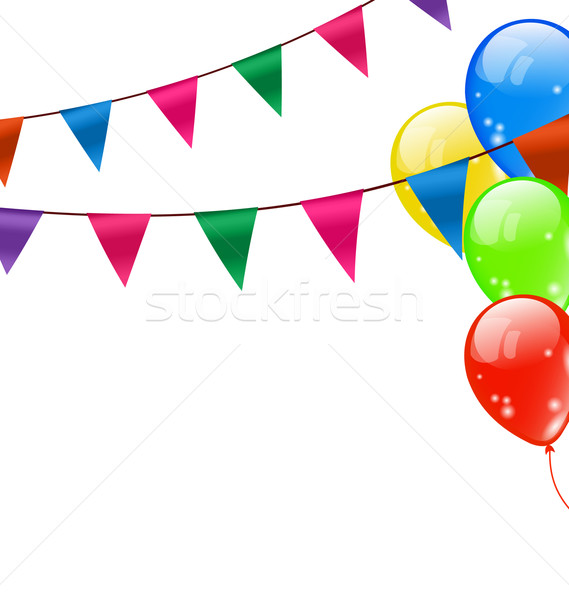 Colorful Hanging Buntings Pennants Stock photo © smeagorl