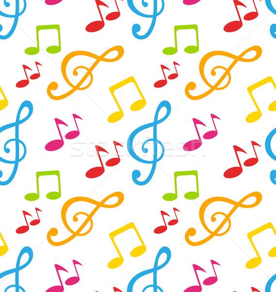 Farbenreich Illustration Werbung Plakat Musik-Festival Stock foto © smeagorl