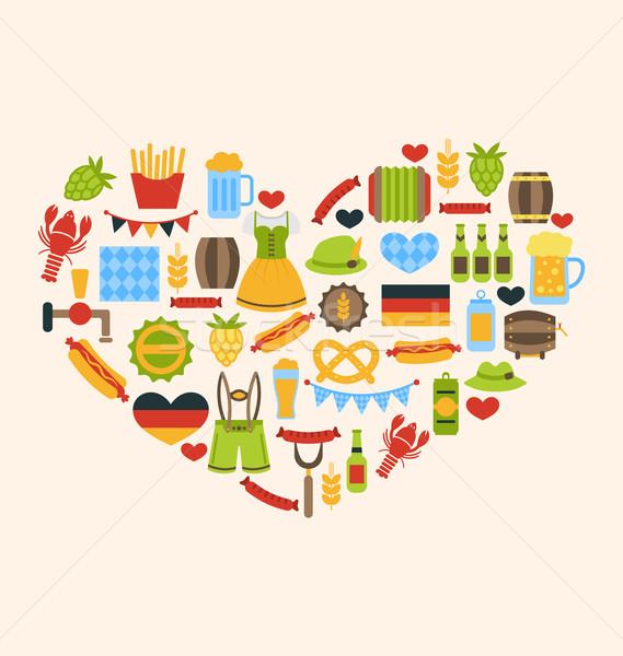 中心 オクトーバーフェスト 伝統的な シンボル 実例 食品 ストックフォト © smeagorl