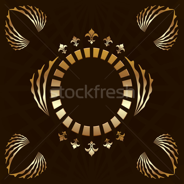 Luxe vector abstract ontwerp blad Stockfoto © smeagorl