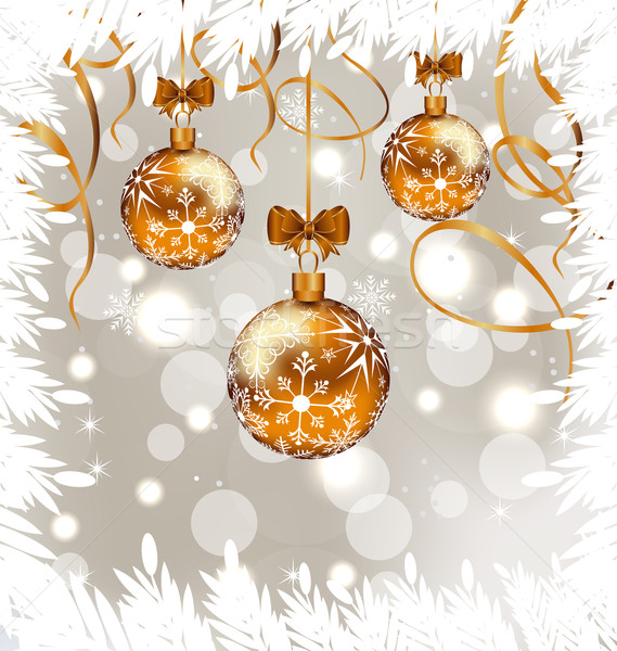 Shimmering background with Christmas balls Stock photo © smeagorl