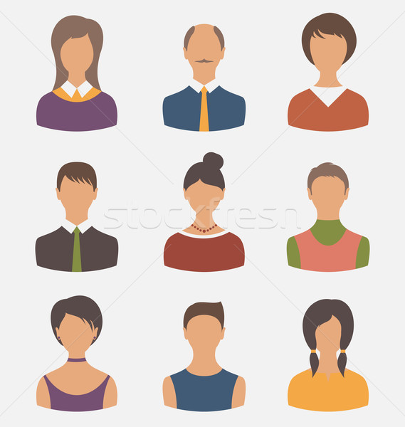 different male and female user avatars Stock photo © smeagorl