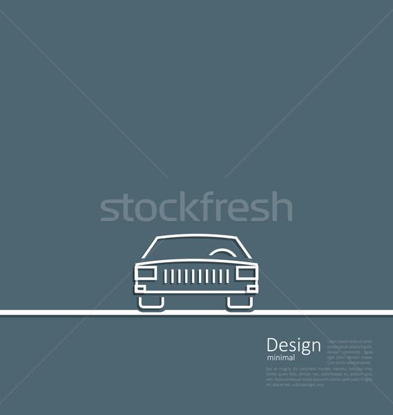 Logotipo carro lado mínimo linhas Foto stock © smeagorl