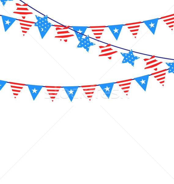 Hanging Bunting Garlands American Stock photo © smeagorl
