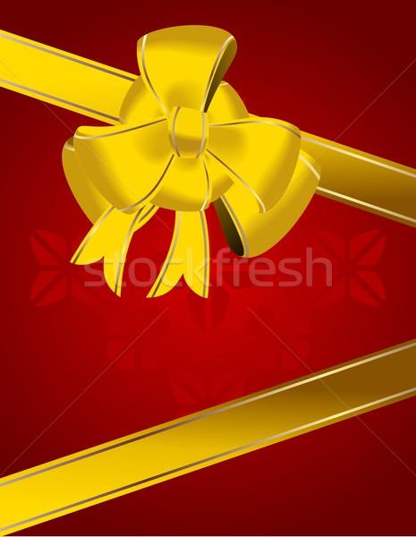 Noël arc décoration art cadeau blanche Photo stock © smeagorl