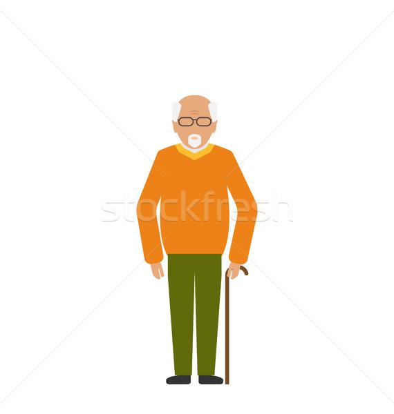 古い 無効になって 男 スティック 松葉杖 実例 ストックフォト © smeagorl