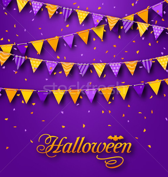 Halloween Party Background with Hanging Triangular String Stock photo © smeagorl