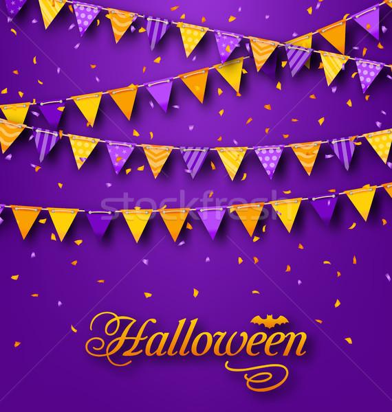Halloween festa enforcamento corda ilustração fundo Foto stock © smeagorl