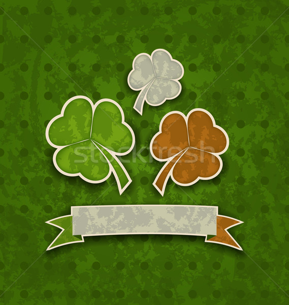 Holiday background with clovers in Irish flag color for St. Patr Stock photo © smeagorl