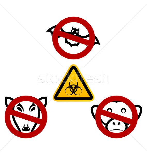 Stop signs in order to avoid disease Ebola virus Stock photo © smeagorl