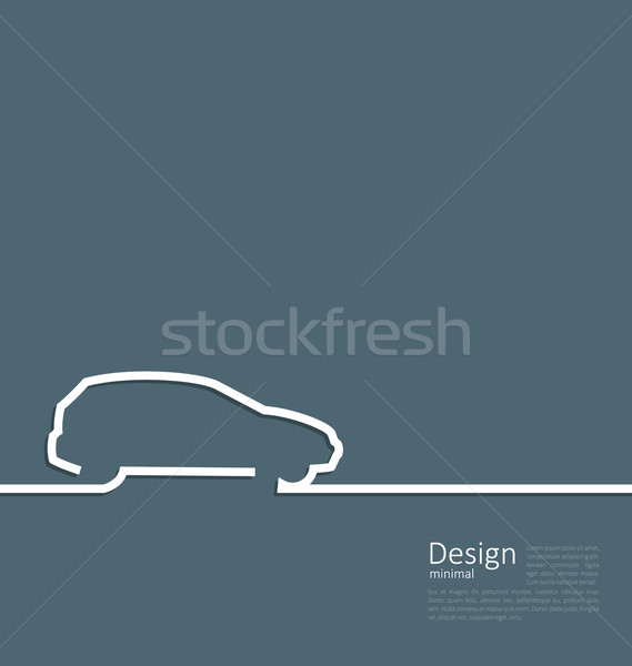 Laconic design of velocity vehicle car cleaness line flat templa Stock photo © smeagorl
