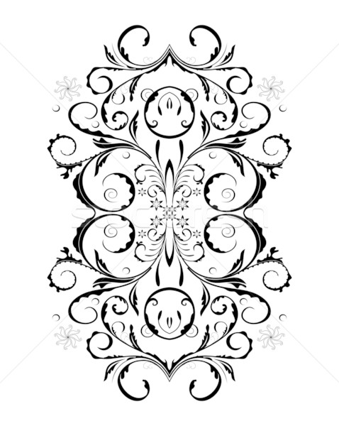 Ornament In flower style Stock photo © smeagorl