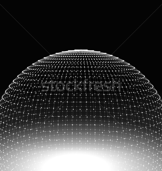 Abstract Sphere Surface Wireframe Polygonal Stock photo © smeagorl