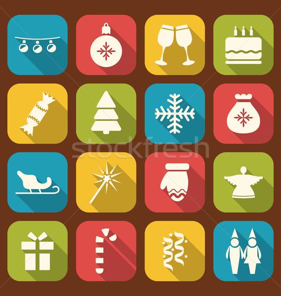 Stok fotoğraf: Noel · parti · basit · simgeler · örnek · uzun