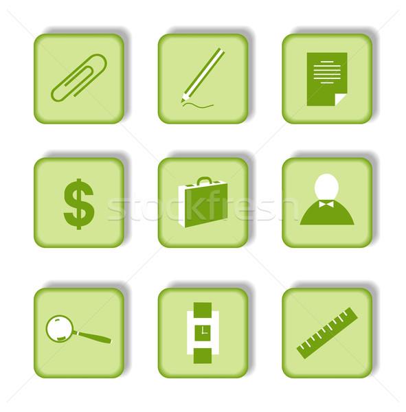 Foto d'archivio: Verde · adesivo · icona · business · soldi · internet