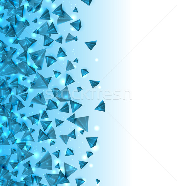 Abstract Background with Pyramids with Light Effects. Modern Design with Geometric Figures Stock photo © smeagorl