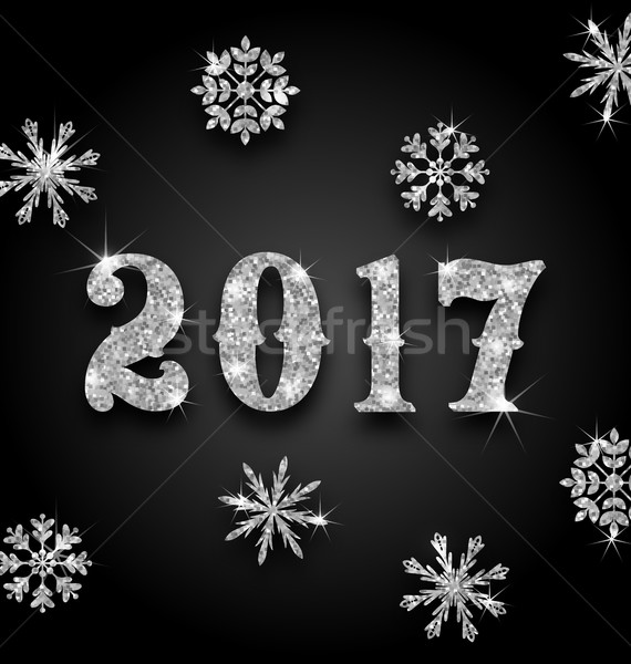 Silver Magic Background for Happy New Year 2017 Stock photo © smeagorl