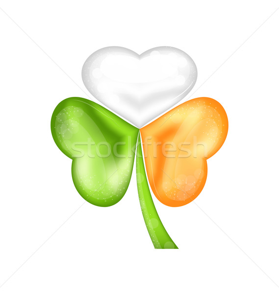 Shamrock in Irish flag color for saint patrick day Stock photo © smeagorl