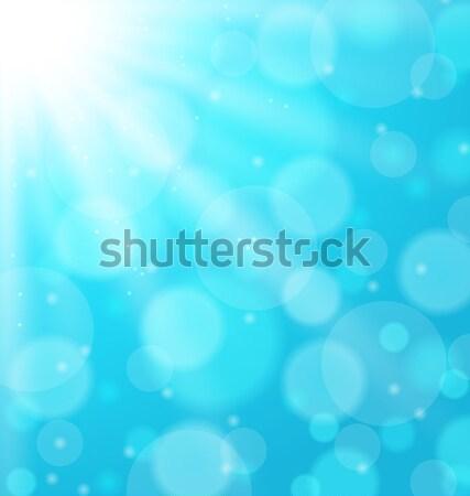 抽象的な 青 サンビーム 実例 デザイン エネルギー ストックフォト © smeagorl