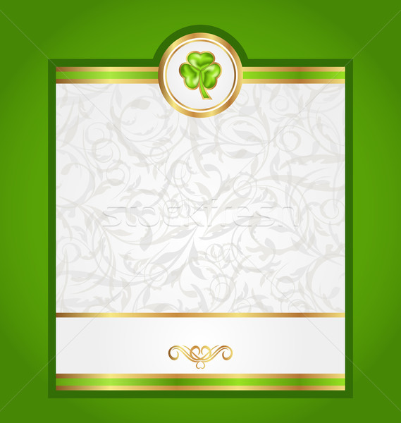 Card with trefoil for Saint Patrick day Stock photo © smeagorl
