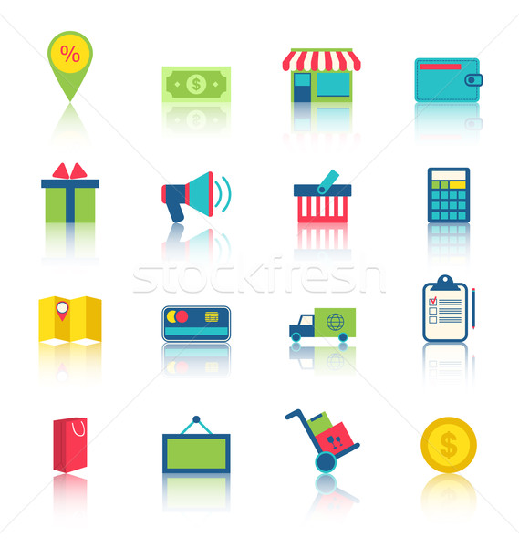 E-commerce Shopping Symbo Stock photo © smeagorl