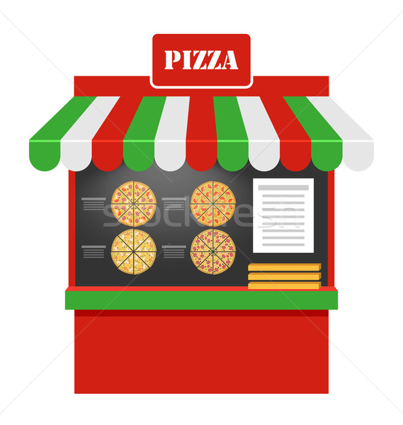 Cart of Pizza Isolated  Stock photo © smeagorl