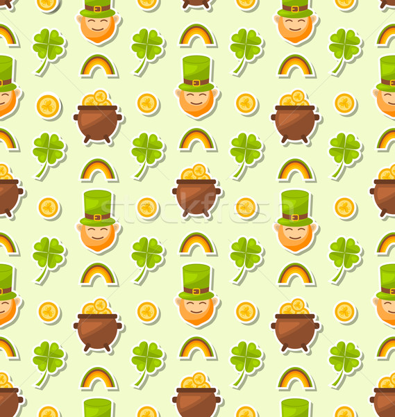 Seamless Holiday Background for Saint Patrick's Day Stock photo © smeagorl