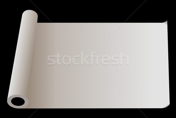 Developed roll of  paper isolated on  black background Stock photo © smeagorl
